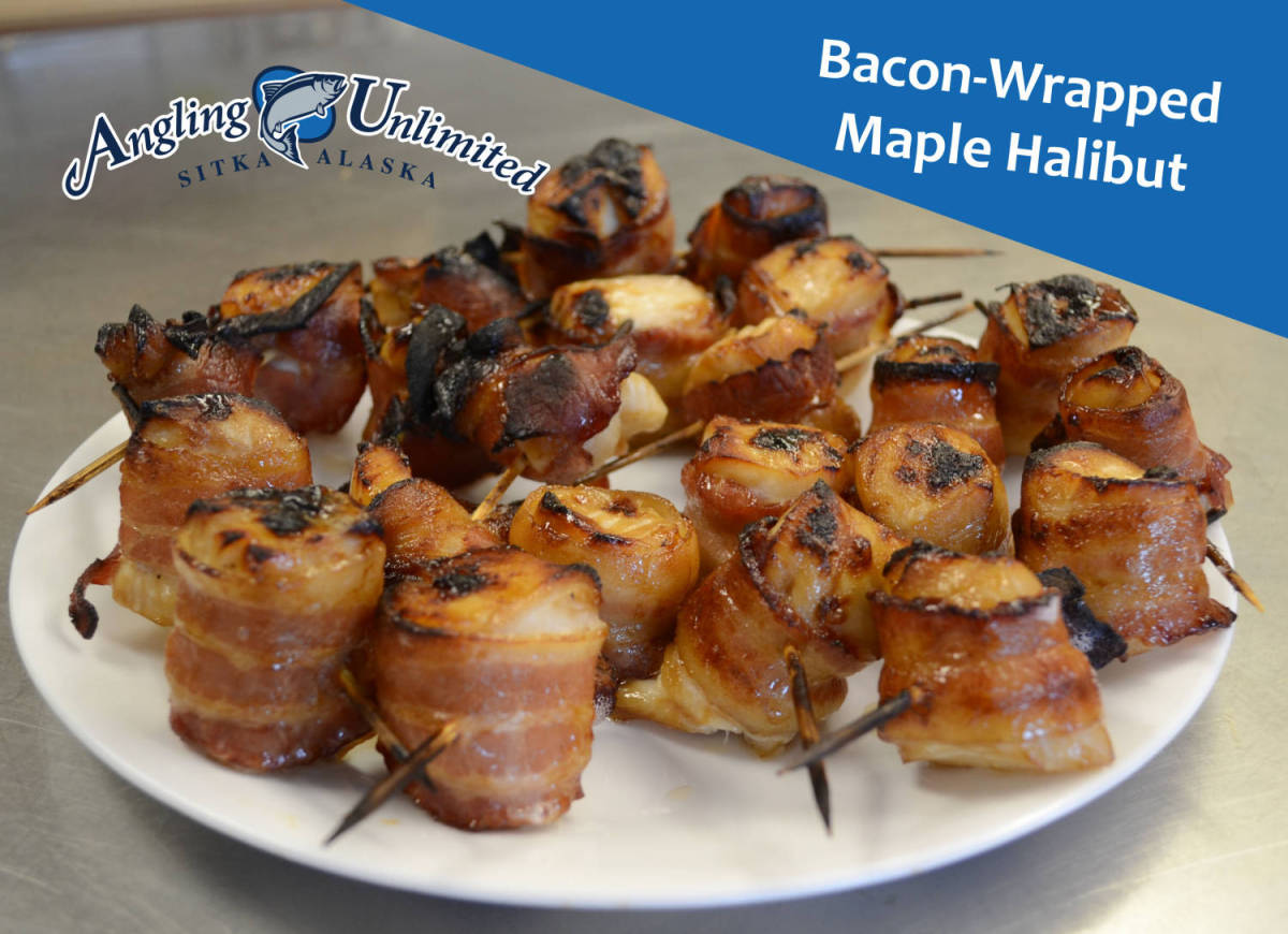 Bacon-Wrapped Maple Halibut