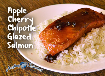 Apple Cherry Chipotle Glazed Salmon
